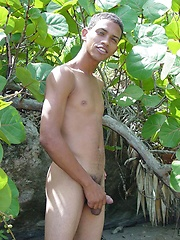 Handsome and horny latin guy demonstrates body